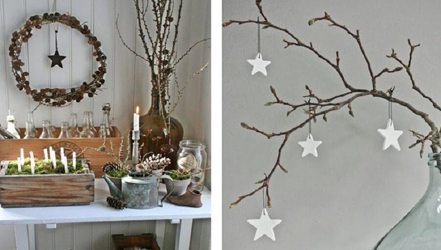Очарование природы в оригинальном декорировании дома: используем ветки