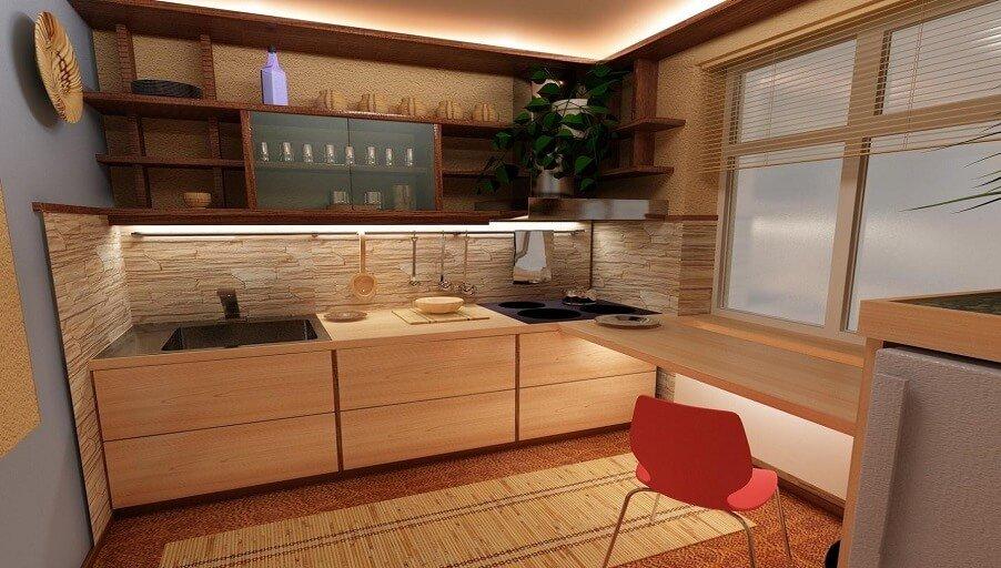 Как обустроить маленькую кухню: советы и идеи