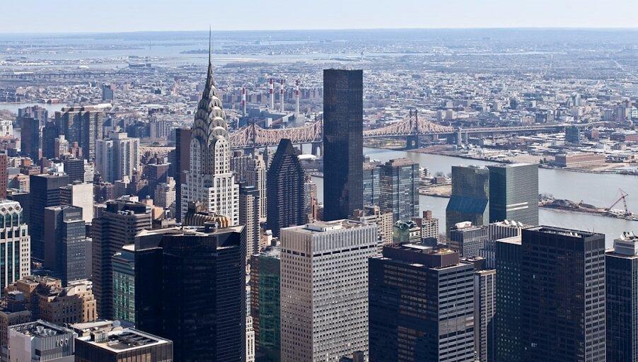 Плотная застройка Нью-Йорка