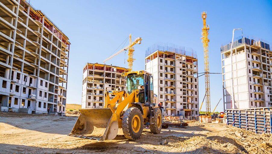Процесс строительства новостроек