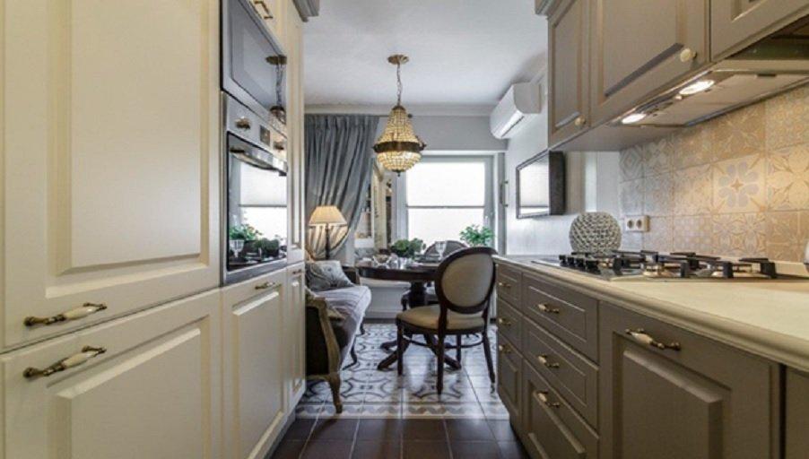 Кухня-камбуз – идеальный вариант для маленькой площади