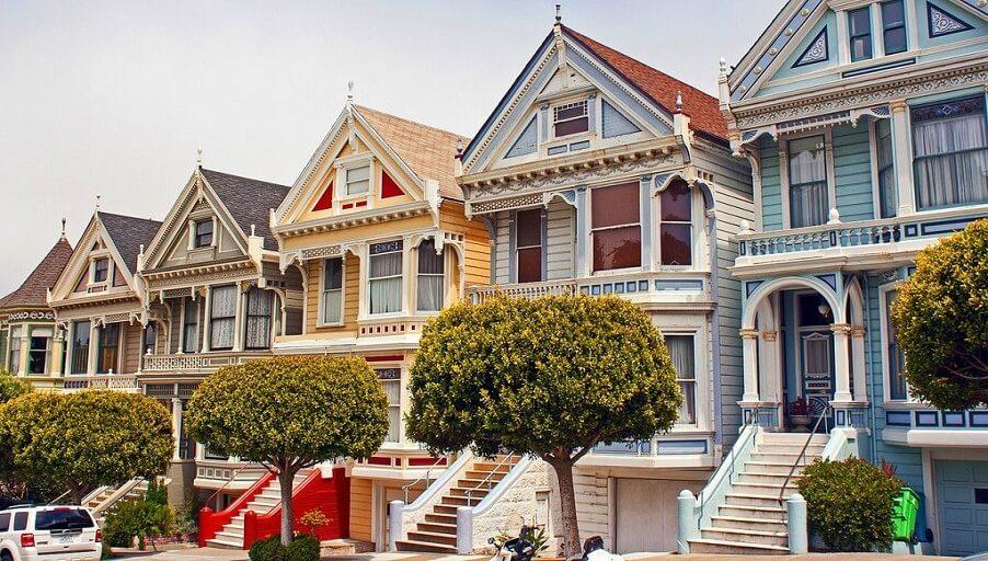 Дома в викторианском стиле в Сан-Франциско