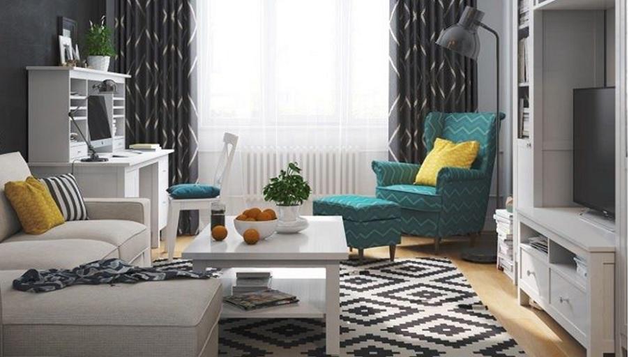 Гостиная с мебелью из Икея